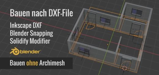 Blender DXF, Snap, Solidify