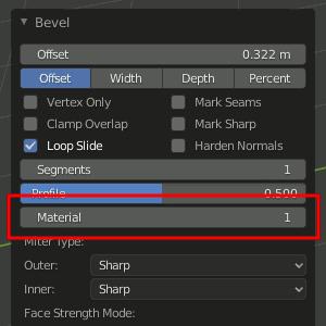 Material Slot einstellen