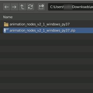 Animation Nodes installieren