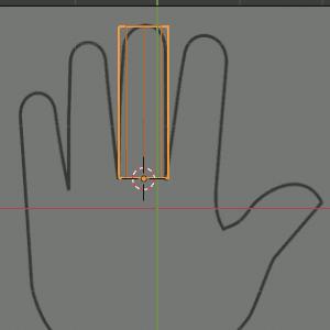 Finger platzieren