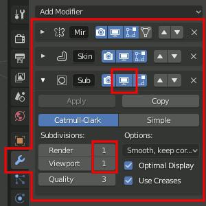 Modifier-Dispaly deaktivieren/aktivieren