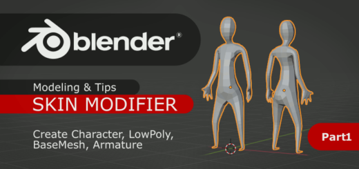 Blender Character with Skin Modifier