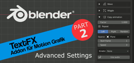 Blender TextFX Advaced Settings