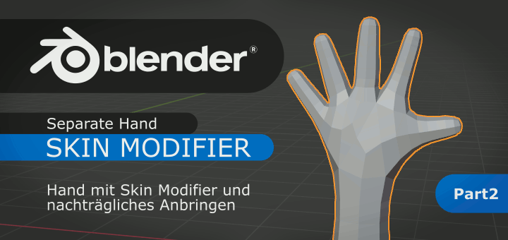 Blender Hand with Skin-Modifier