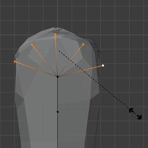 STRG-A, Vertices skalieren
