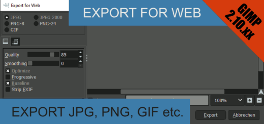 Export for Web Gimp 2.10