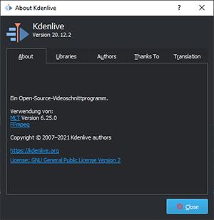 KDEnlive Version 20.12.2